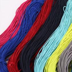 カラフルな薄手の伸縮性のあるバンド伸縮性のあるロープ、スパンデックスゴムバンド 弾性ライン結婚式の衣服の DIY の布の縫うことの付属品