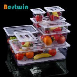 Niet-wegwerpbare plastic PC Polycarbonaat GN Pan Gastronorm Voedingscontainer voor Cafe Restaurant