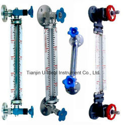 Transparentes Glasanblick Glas-Stufe Fühler-Gefäß Wasserspiegel-acrylsaueranzeigeinstrument
