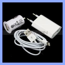 3 in 1 Aufladeeinheits-Installationssatz für iPhone 7/6/5/5s Wand-Aufladeeinheits-Auto-Aufladeeinheit USB Synchronisierungs-Kabel