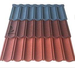 Decra carreaux colorés de la pierre naturelle de copeaux de métal recouvert de feuilles de toiture