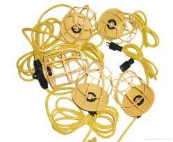 LS-100 Sjtw Job-Site 12/3 10 Lamp String Light mit Metal Cage Guard