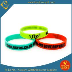 Form-hübsche Farbe fertigte Ihren eigenen Firmenzeichen-Silikon-Wristband u. Armband kundenspezifisch an