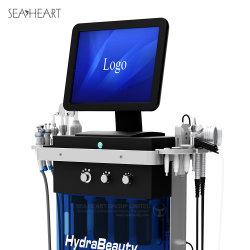 Neue Merkmale 9 in 1 Hydra-Wasser Dermabrasion HF-Bio-Anhebender BADEKURORT GesichtsMicrodermabrasion Haut-Schönheits-Maschine