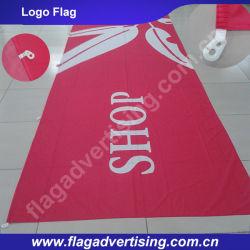 Fabrication en gros Impression digitale Impression sur étiquette en polyester personnalisée, drapeau du logo, drapeau de l'entreprise
