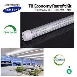 DLC 조광가능 T8 LED 튜브 회전 가능 끝 상용 조명
