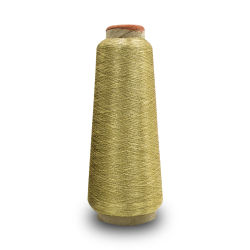 Ricamo metallico del filetto della fascia elastica del filato dell'oro su ordinazione