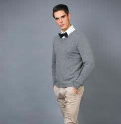 남자의 형식 100%년 V 목을%s 가진 캐시미어 천에 의하여 뜨개질을 하는 스웨터 스웨터