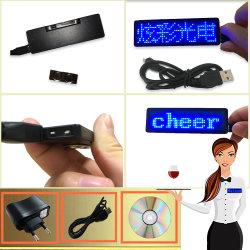 Ordinateur USB Rechargeable de communication global Mini LED Affichage de la langue d'un insigne