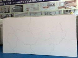 新しいニースデザインCalacattaのカウンタートップの台所のための白い人工的な水晶石