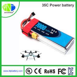 Personnalisation de décharge haute puissance 7.4V 11.1V 14,8 V 22.2V 35C Li Polymère de batteries pour avion hélicoptère RC et le modèle