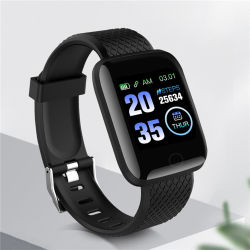 116plusスマートな腕時計5カラーギフトの腕時計ABS+PC TPUストラップのSmartwatchのスマートなブレスレット