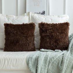 Роскошный фо мех с малым проекционным расстоянием декоративные мягкие подушки случае подушки сиденья