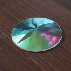 Fleur de forme ronde de découpe de verre Pierre dos plat