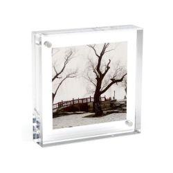 4 X 6 акриловый Clear Photo Frame/ подписать с магнитным держателем закрыть