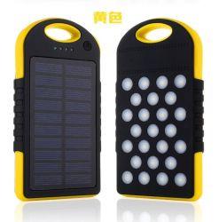 Banque d'énergie solaire étanche portable 10000mAh Batterie Externe USB double