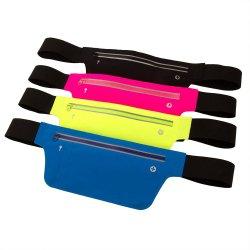 PVC-Taillentasche Outdoor Spannung Doppel-Reißverschluss Sport Running Mobile Phone Fanny Pack
