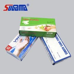 Einweg-Schutzprüfung mit CE Vinyl Hand PVC-Handschuhe Pulver Kostenlos