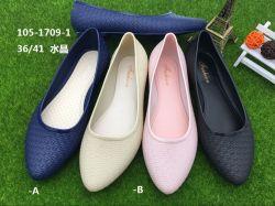 Женщин новая конструкция обычных пластиковых ПВХ желе обувь