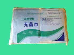 Face lavage stérile jetable Serviette Serviette de coton pour l'hôpital médical