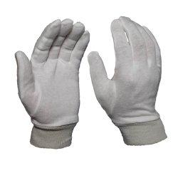 Assorbire la manopola bianca del Knit del guanto del cotone dell'operaio di protezione di industria alimentare del sudore