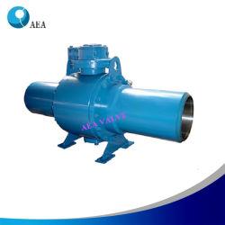 6D de l'API Split corps entièrement soudée Valve à bille de Pipeline Tunnion monté dans les systèmes de fourniture de gaz Gaz de la station de régulation de pression pour la transmission et distribution