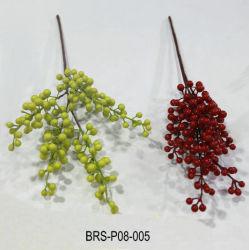 Оптовая торговля высокой моделированной искусственные фрукты филиал шток клапана для украшения дома
