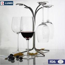 Barato Vinho Tinto Óculos Cristal Definir Dom em uma caixa de vidro