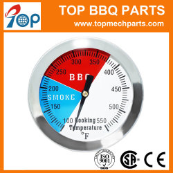 2 Polegada 550 F Aferidor de Temperatura do churrasco grill termômetro SS304