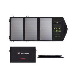 Carregador Solar Allpowers 5V 21W carregador de bateria solar Carregador Solar duas portas USB para iPhone 4S 5 5 s 6 6s iPhone 7 7plus 8 iPhone X iPad Mini iPad Samsung Ar.