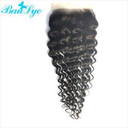 Chiusura svizzera profonda indiana del merletto dei capelli umani del Virgin dell'onda 5X5 di prezzi all'ingrosso