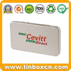 Caja de estaño rectangular para la medicina con Food Grade