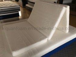 Mobiliário dobrável com espuma de alta densidade de tecido de tricotar colchão Zip