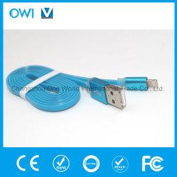 Пять цветов и зарядного устройства передачи данных плоский кабель USB для iPhone