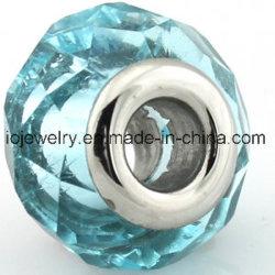 Acier inoxydable 316 coeur Perles de verre de Murano bon marché de gros