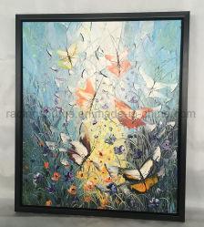 Modernes Basisrecheneinheits-Segeltuch-Kunst-Wand-Dekor-Blumen-Ölgemälde