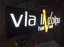 Boîte à lumière LED lumineux à LED signe pour les noms de la boutique