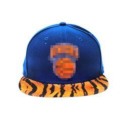 Tissu de coton à armure sergé bleu jaune contraste urbain plat Snapback Lepord le projet de loi camionneur de Baseball Caps chapeaux