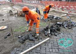 Chinese Zwarte Cobbles van het Basalt voor het Project van de Straatsteen
