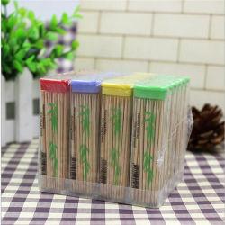 Venda a quente palito de bambu portátil 50 Pack em uma caixa verde cheiro Não Capta Dental Oral