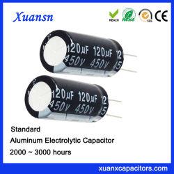 120UF 450 V Conexión Radial de condensadores de electrónica de aluminio