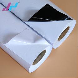 ホワイトプリント可能ステッカ PVC 粘着ビニール (100 ミクロン 140 gsm)