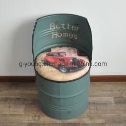 메탈 배럴 레스토랑 바 의자 오일 드럼 의자 산업용 믹스 4가지 색상