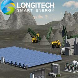 PV Solar e sistema híbrido de geradores a diesel