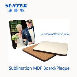 China sublimación en blanco 5mm de espesor de la Junta de MDF para la impresión de calor