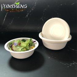 Compostable fibre naturelle écologique biodégradable la bagasse de canne à sucre Microwaveable bol de soupe de matériel de la Salade chaude de nourriture à froid