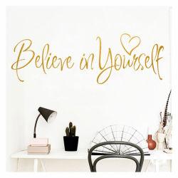 Credete in voi stessi Stickers motivazionali Kid decorazione della parete della camera da letto
