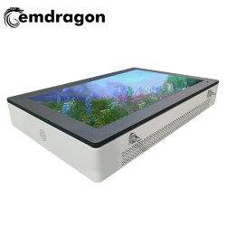 공랭식 수평 화면 벽 행잉 실외 광고 기계 - 1 55인치 실내 LCD 광고 플레이어 터치 스크린 LCD 모니터 광고