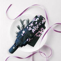 Изменение цвета романтический цветок печать автоматическая фальцовка зонтик для Sun и датчик дождя и освещенности