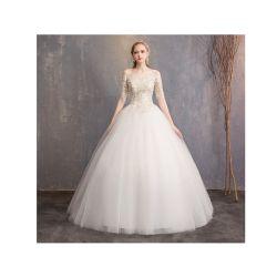 Кружевной вышивкой Organza off-плечевой Strapless девочек свадебные платья